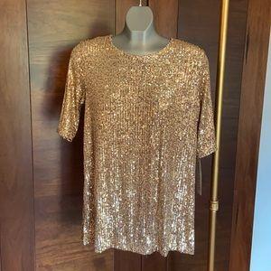 Caroline Rose Gold Sequin T-shirt